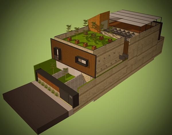 Casa Habitacion arquitectura sostenibilidad materiales artesanale