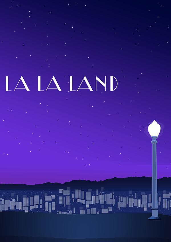 La la land poster vector recreation on behance - La la land download ...