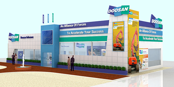 Exhibition Stall On Behance : Kandil steel at metal steel exhibition cairo egypt on behance