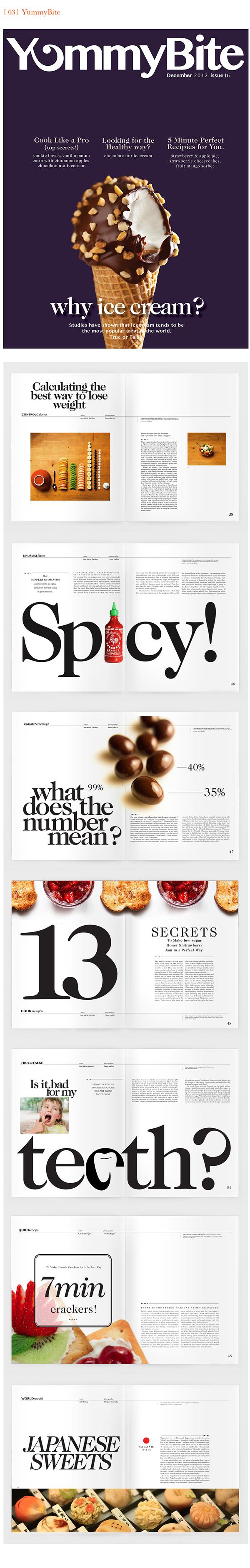 editorial design  magazine typography   dessert publishing   logo editorial Layout print design  School Project