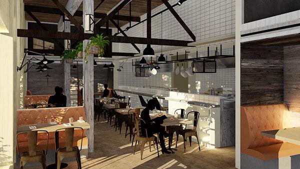 Restaurant 3d Model Interior On Behance