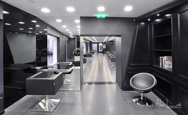 Salon de coiffure bastille by alex link design on behance - Salon de coiffure bastille ...