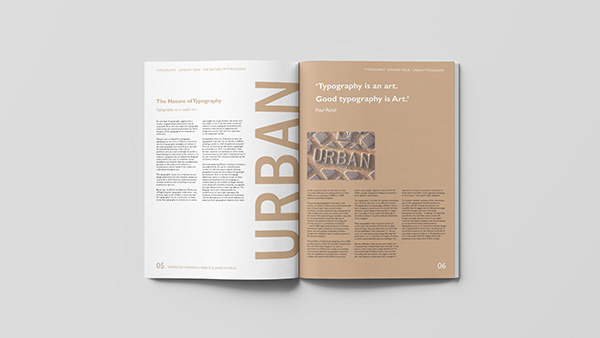 Typography in the Environment - Magazine
