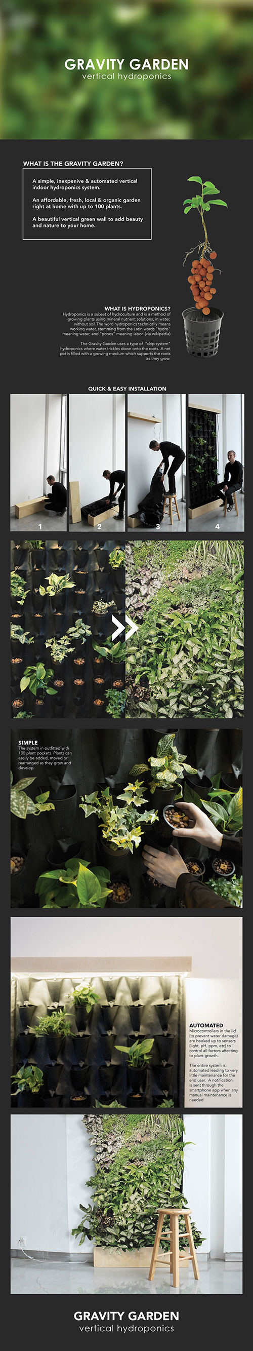 garden plants vertical garden vertical Food  hydroponic product organic compact flatpack affordable design