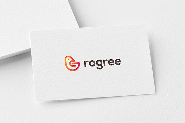 Rogree logo design | minimal logo | modern logo