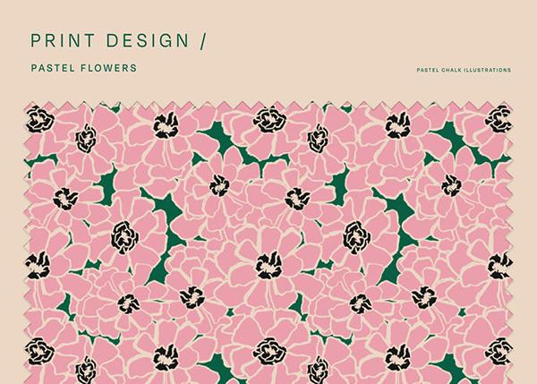 Pastel flowers Print Design