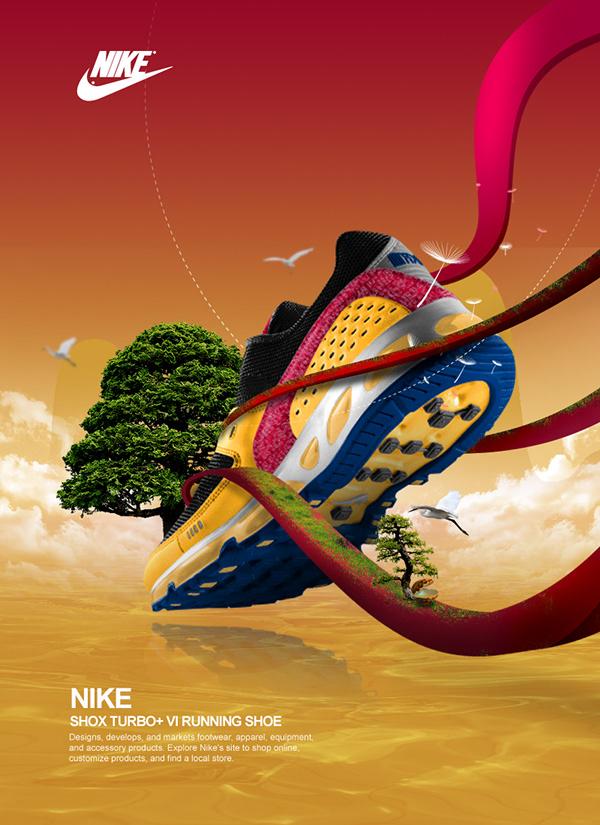 Nike poster design practice on Behance
