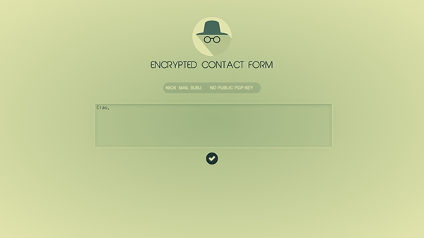 cryptography PGP gpg Form design