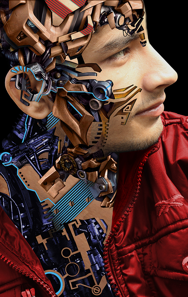 Mechanical portrait series by Mohammad Azad
