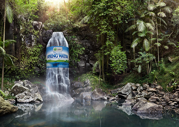 spring water Only spring water when we think of water we think of purity, oceans, glaciers, rivers and waterfalls water is part of nature and essential to life itself.