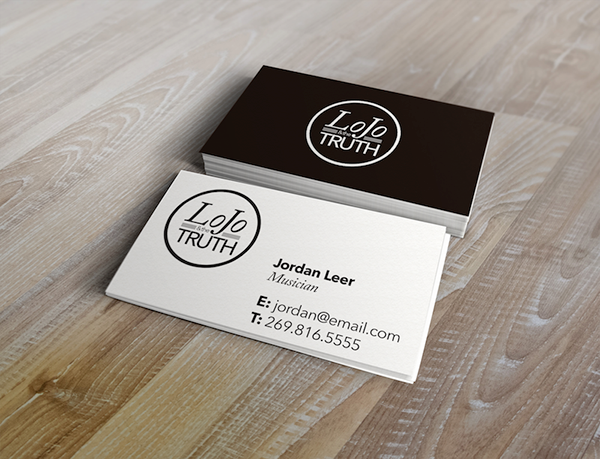 Lojo the truth brand and business cards on behance a card requested to be based on patrick batemans in american psycho the color of the card is bone the lettering is something called silian rail reheart Gallery