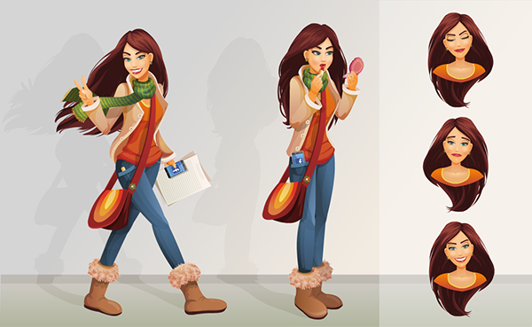 Character Design In Flash : Flash teenager characters on behance