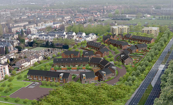 dwelling, architecture,Urban Design,urban planning,stedenbouwkunde,Woningbouw,Rijwoningen, Tweekappers,Tweekappers