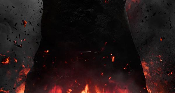 havoc chaos fire burn darkness dark black Anger rage