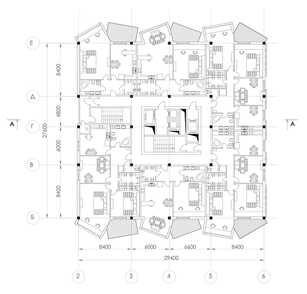 High rise apartment complex on behance for Floor plans high rise apartments