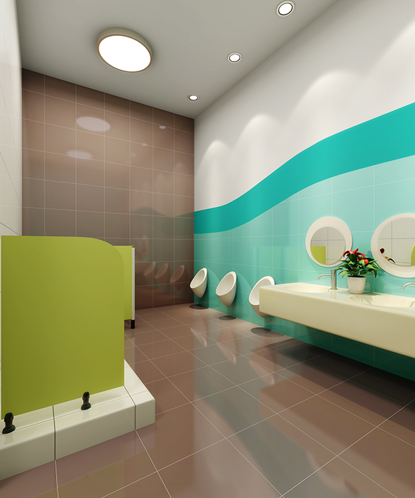Nanjing 61 space preschool and kindergarten design on behance for Children s bathroom designs