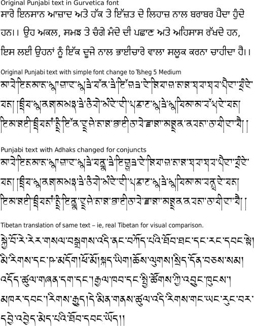 Tsheg, Tibetan-style Gurmukhi and Roman font on Behance