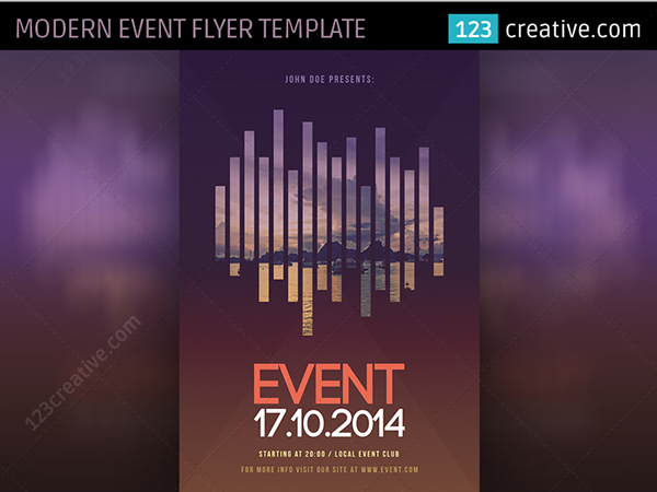 modern event flyer template psd simple and minimal poster template for exhibition curtural event photography workshop or any other event in your town