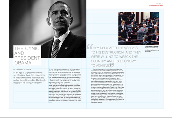 article layouts on behance
