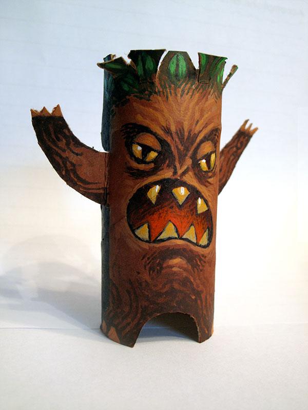 Toilet Paper Roll Monsters 1 Evil Ent On Behance