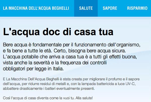 website La Macchina DellAcqua Beghelli on Behance