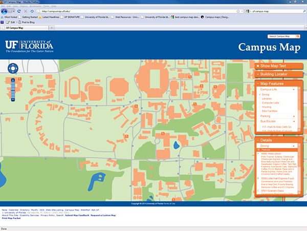 map of uf campus University Of Florida Campus Map Design On Behance map of uf campus