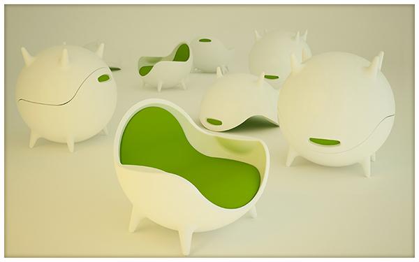 land concept design 3D 3dmodel Render Pasquale Conventi Poltrona design italiano italia Outdoor