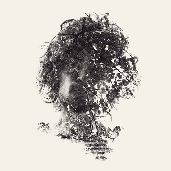 multiple exposure double exposure Christoffer Relander  Finland portraits  nature D700 we are nature
