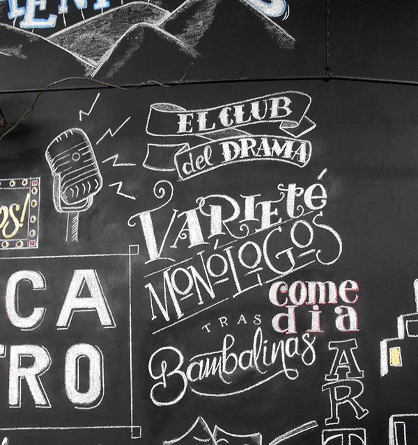 Mural tiza chalk mural lettering illustration on behance for Thank you mural