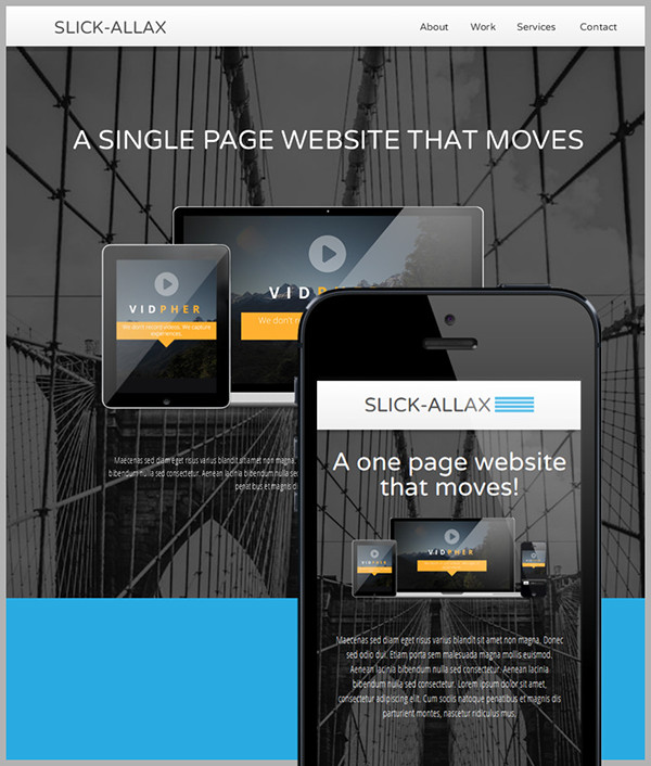 Slickallax Adobe Muse Website Template On Behance - Adobe muse website templates