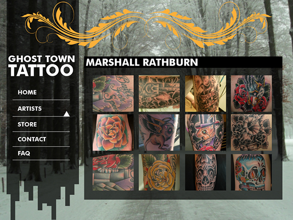Ghost town tattoo website on scad portfolios for Ghost town tattoo