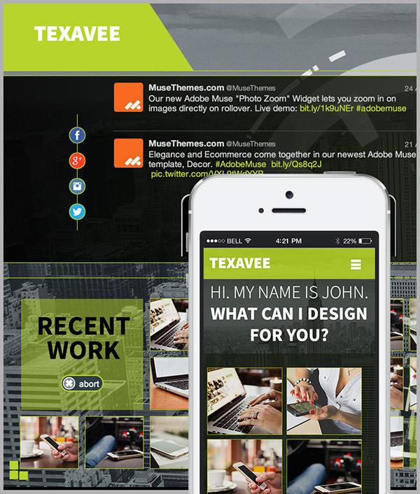Texavee - Adobe Muse Theme on Behance