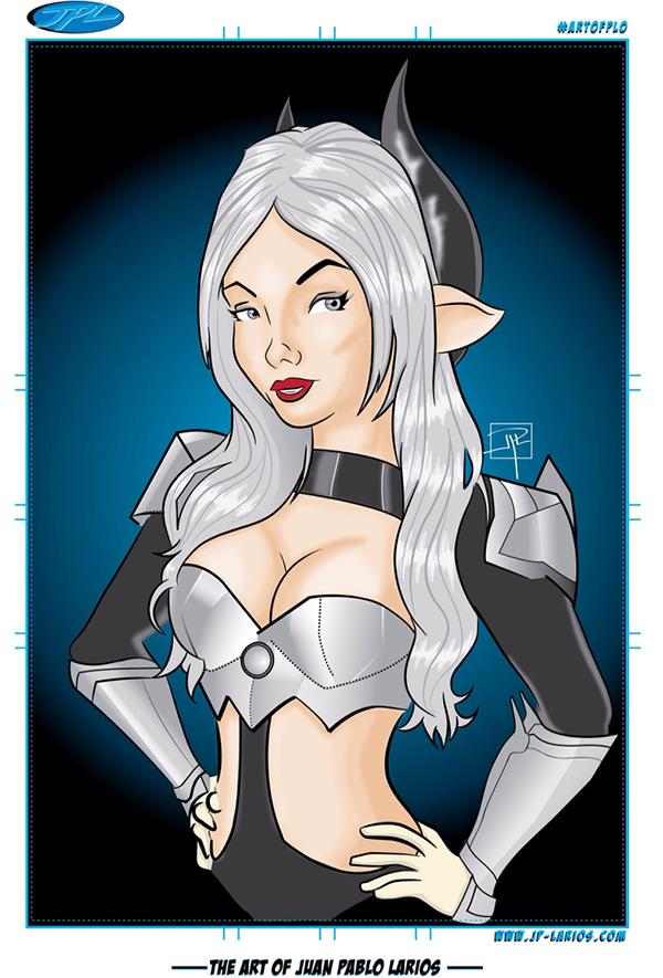 larios artofPLO adobe Illustrator female Cosplay awesome Hot cool Digital Art