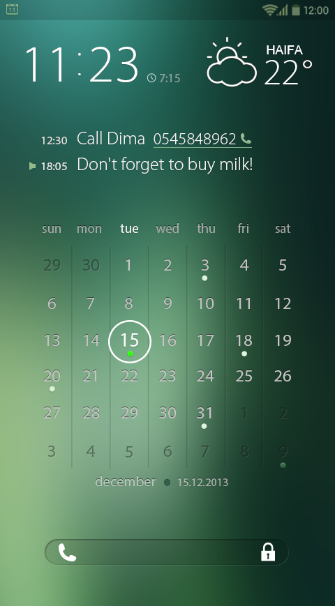 Calendar Lockscreen : Calendar tasks lock screen interaction demo on behance