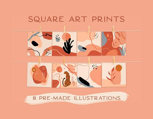 Square Art Prints Bundle