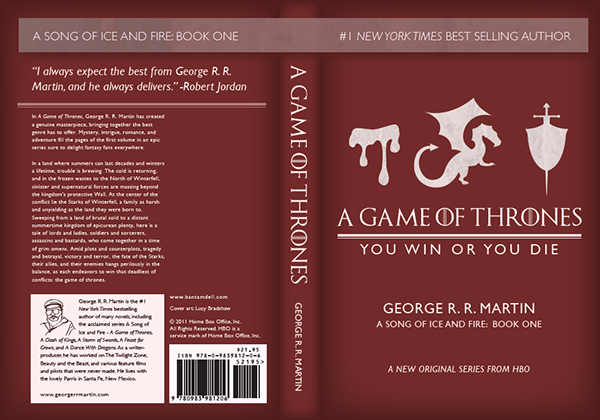 Book Cover Typography Quiz : A game of thrones book cover redesign on behance