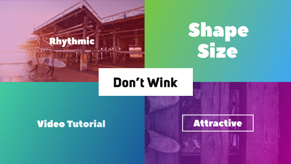 Don't Wink - Typographic Intro (After effects template) on
