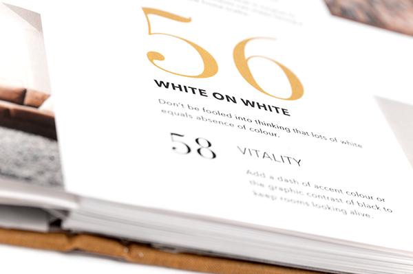 book redesign Small spaces redesign book gold avenir bodoni Trade Gothic