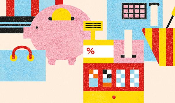 Macroeconomics economics editorial illustrator money illustration economy illustration Monica Andino
