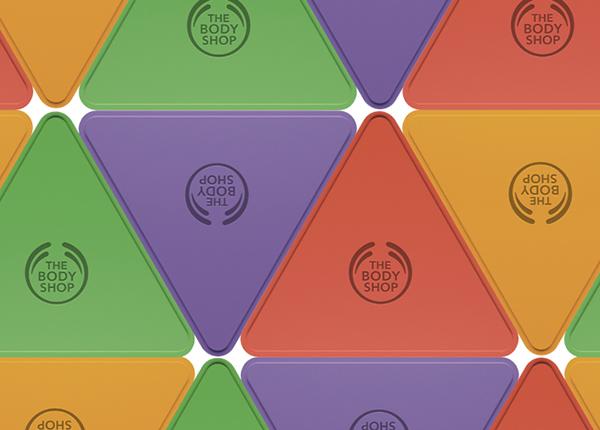 BodyShop D&AD cosmetics Triangles colours four