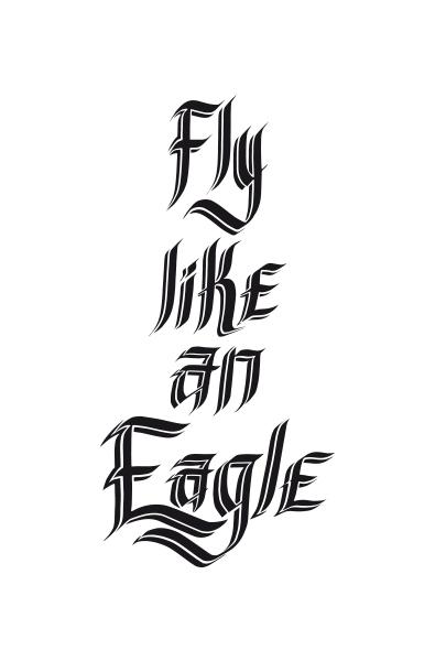 lettering calligrafia poster type