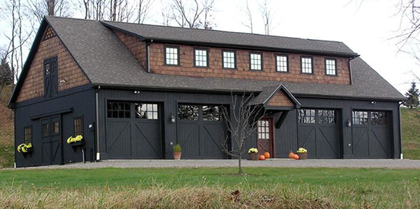 Willistown barn garage on philau portfolios for Oversized garage with apartment