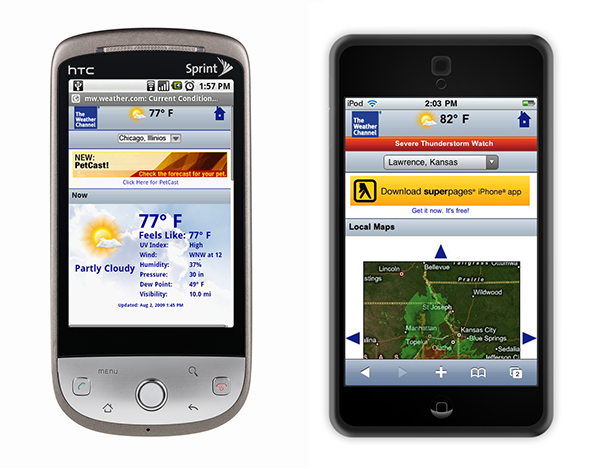weather mobile Web