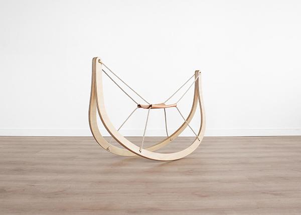 Rockin horse danish nordic fritz hansen rock vener bendt wood wood Classic simple simplicity evolution grow veneer