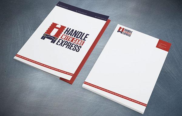 logo trucking delivery stationary Stationery business card folder