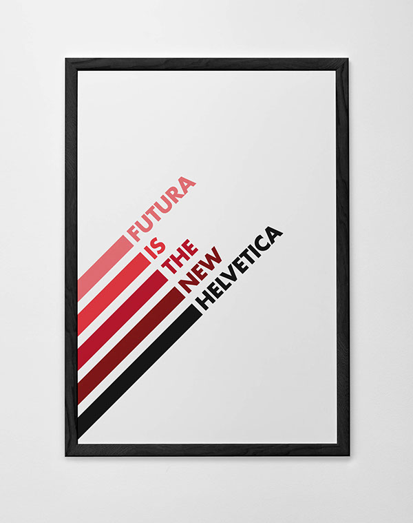 futura new helvetica font typeface poster black red white pantone canvas brochure draw painting wall paul renner capo graphic design awesome belen rodriguez naked