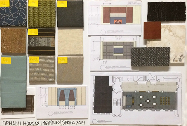 Material selection project for an office space on philau for Material design space
