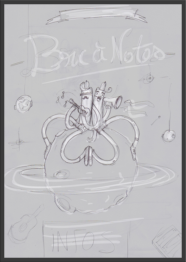 festival bric a notes 3dsmax childrens poster funny color