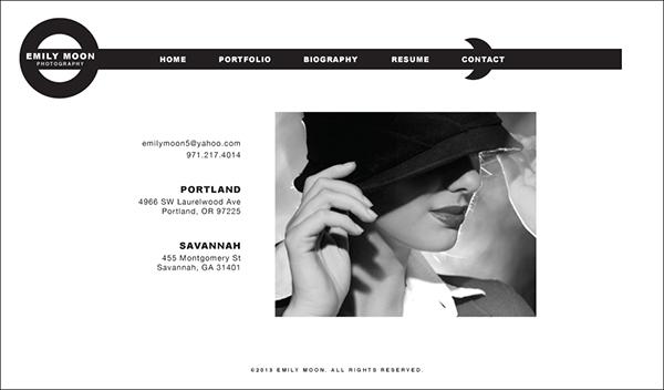 Emily Moon Photography,websites,Logo Design,graphics,Layout,illustrations,photographs,designs