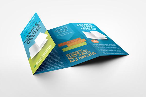 Double Parallel Fold Brochure Mockup On Behance - Double parallel fold brochure template